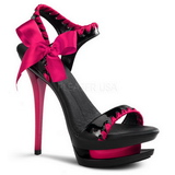 fuchsia 16 cm Pleaser BLONDIE-615 platform high heels sko