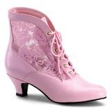 rosa blondestoffer 5 cm DAME-05 dame ankelst�vletter med sn�ring