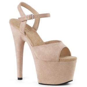 Beige Leatherette 18 cm ADORE-709FS high heeled sandals