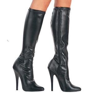 Black Pu 15 cm DOMINA-2000 High Heels Women Boots