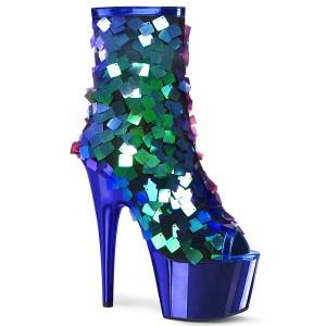 Blue Sequins 18 cm ADORE-1031SSQ pleaser ankle boots with platform