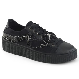 Canvas 4 cm SNEEKER-112 Mens sneakers creepers shoes