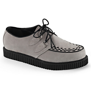 Gray Suede 2,5 cm CREEPER-602S Mens Creepers Shoes