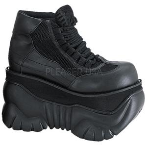 Leatherette 10 cm BOXER-01 Platform Mens Gothic Shoes
