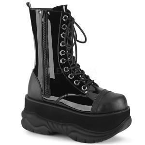 Patent 7,5 cm NEPTUNE-200 demonia ankle boots - unisex platform ankle boots