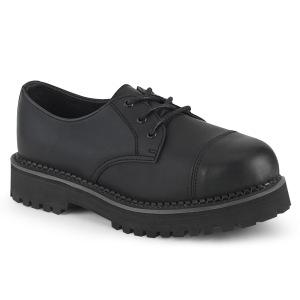 Vegan RIOT-03 demonia shoes - punk steel toe shoes