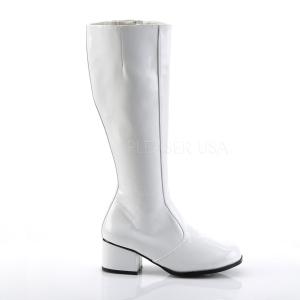 White Patent 5 cm FUNTASMA GOGO Women Knee Boots