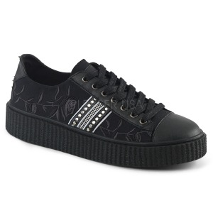 canvas 4 cm SNEEKER-106 sneakers creepers sko til menn