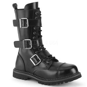 ekte skinn RIOT-12BK stål tå cap støvler - demonia militærstøvler