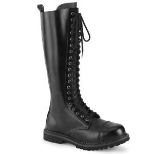 ekte skinn RIOT-20 stål tå cap støvler - demonia militærstøvler