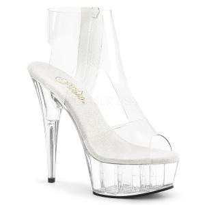 gjennomsiktig 15 cm Pleaser DELIGHT-633 platå høye hæler sko