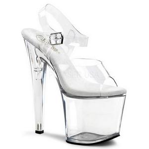 gjennomsiktig 19 cm TABOO-708 platå høye hæler sko