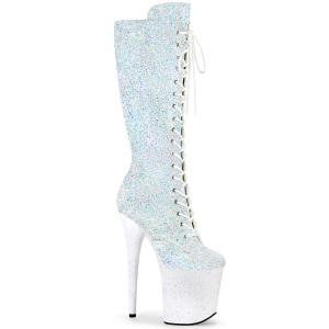 glitter 20 cm FLAMINGO-2020MG-2-2 støvler høye hæler - ekstremt platåstøvler
