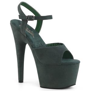 grønn kunstlær 18 cm ADORE-709FS høyhælte platåsandaler