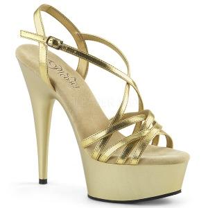 gull 15 cm Pleaser DELIGHT-613 sandaler med høye hæler
