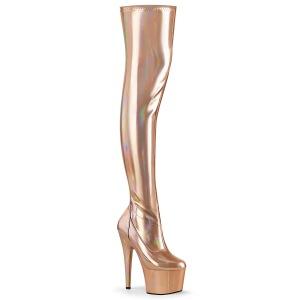 gull 18 cm ADORE-3000HWR hologram overknee støvler - pole dance overknees