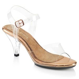 gull 8 cm BELLE-308 sko med høye hæler for menn
