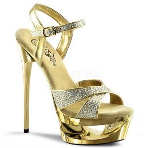 gull glitter 16,5 cm Pleaser ECLIPSE-619G høye stiletthæler platå