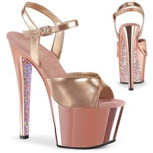 gull krom platå 18 cm SKY-309TTG pleaser høye hæler for kvinner