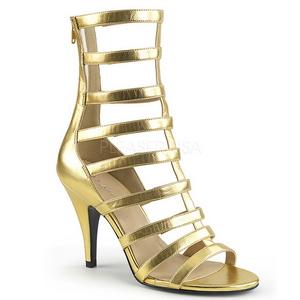 gull kunstlær 10 cm DREAM-438 store størrelser ankelstøvletter dame