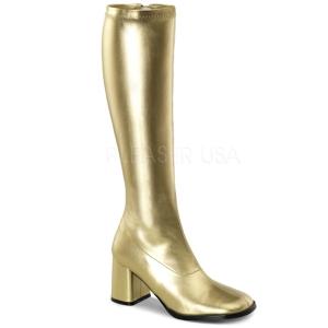 gull matt 8,5 cm GOGO-300 høye damestøvler til menn
