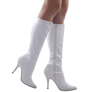 hvit lakk 13 cm Pleaser SEDUCE-2000 høye støvler dame