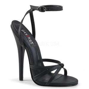 kunstlær 15 cm Devious DOMINA-108 dame sandaler med hæl