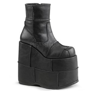 kunstlær 18 cm STACK-201 goth platå ankelstøvletter til menn