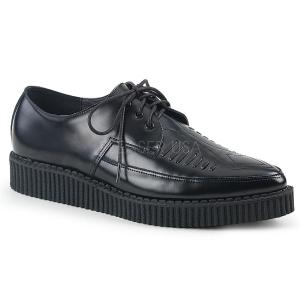lær 3 cm CREEPER-712 platå creepers sko til menn