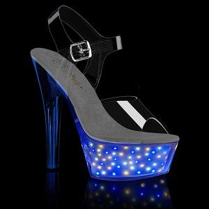 led lyspære platå 15 cm ECHOLITE-208 høyhælte sandaler - pole dance hæler