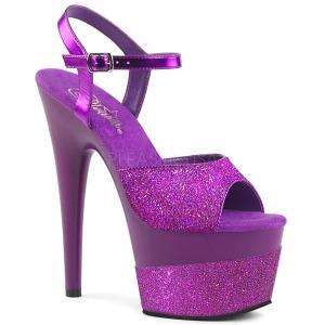 lilla 18 cm ADORE-709-2G glitter platå sandaler dame