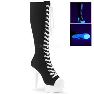 neon 15 cm DELIGHT-2000SK canvas støvler med høye hæler