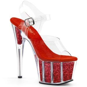 rød glitter 18 cm Pleaser ADORE-708G pole dancing sko
