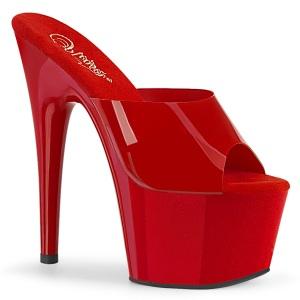 rød jelly-like 18 cm ADORE-701N høyhælte mules - pole dance hæler