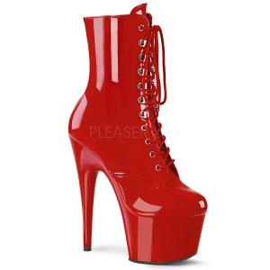 rød lakklær 18 cm ADORE-1020 platå ankelstøvletter til dame
