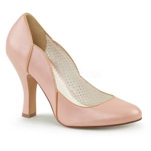 rosa 10 cm SMITTEN-04 pinup pumps sko med lave hæler