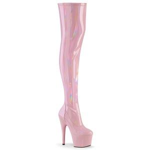 rosa 18 cm ADORE-3000HWR hologram overknee støvler - pole dance overknees