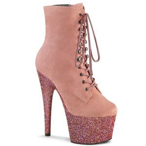 rosa glitter 18 cm ADORE-1020FSMG høyhælte ankelstøvletter - pole dance støvletter