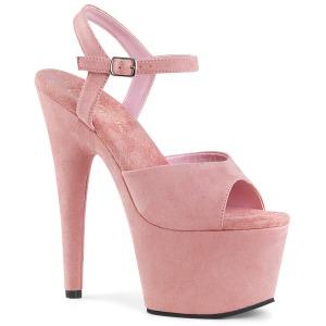 rosa kunstlær 18 cm ADORE-709FS høyhælte platåsandaler