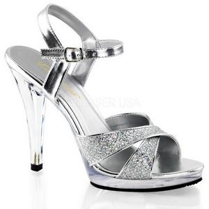 sølv glitter 12 cm FLAIR-419G high heels sko til menn