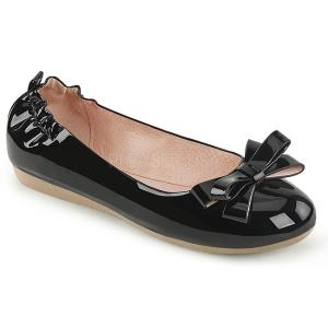 svart OLIVE-03 ballerinasko lave damesko med sløyfe