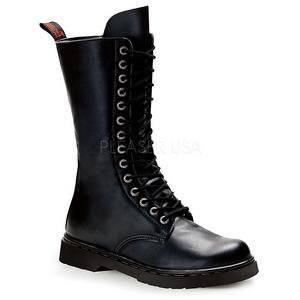 svart kunstlær DEFIANT-300 støvletter til menn med snøring