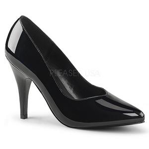 svart lakkert 10 cm DREAM-420 kvinner pumps høye hæler