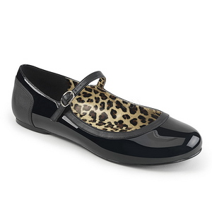 svart lakklær ANNA-02 store størrelser ballerina sko