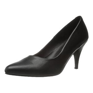 svart matt 7,5 cm PUMP-420 klassiske pumps sko til dame