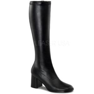 svart matt 8,5 cm GOGO-300 høye damestøvler til menn