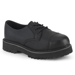 vegan RIOT-03 demonia punk sko - unisex stål tå cap sko