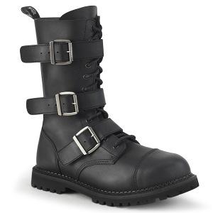 vegan skinn RIOT-12BK stål tå cap støvler - demonia militærstøvler