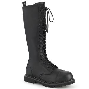 vegan skinn RIOT-20 stål tå cap støvler - demonia militærstøvler