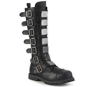 vegan skinn RIOT-21MP stål tå cap støvler - demonia militærstøvler